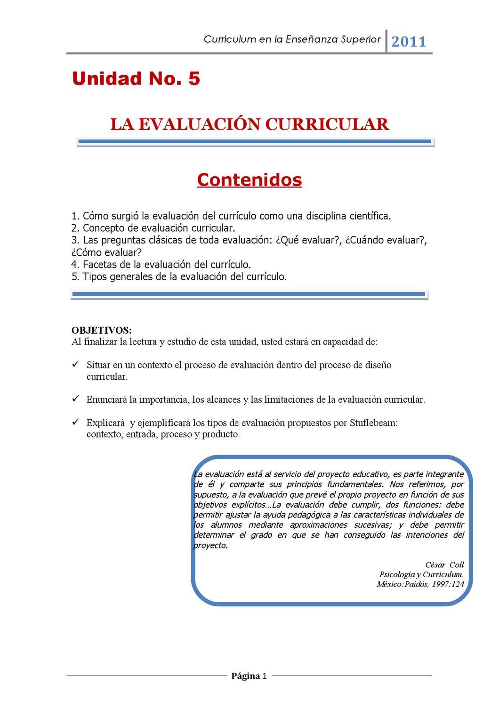 La Evaluación curricular by Sara Marisol Mejia Alburez - issuu