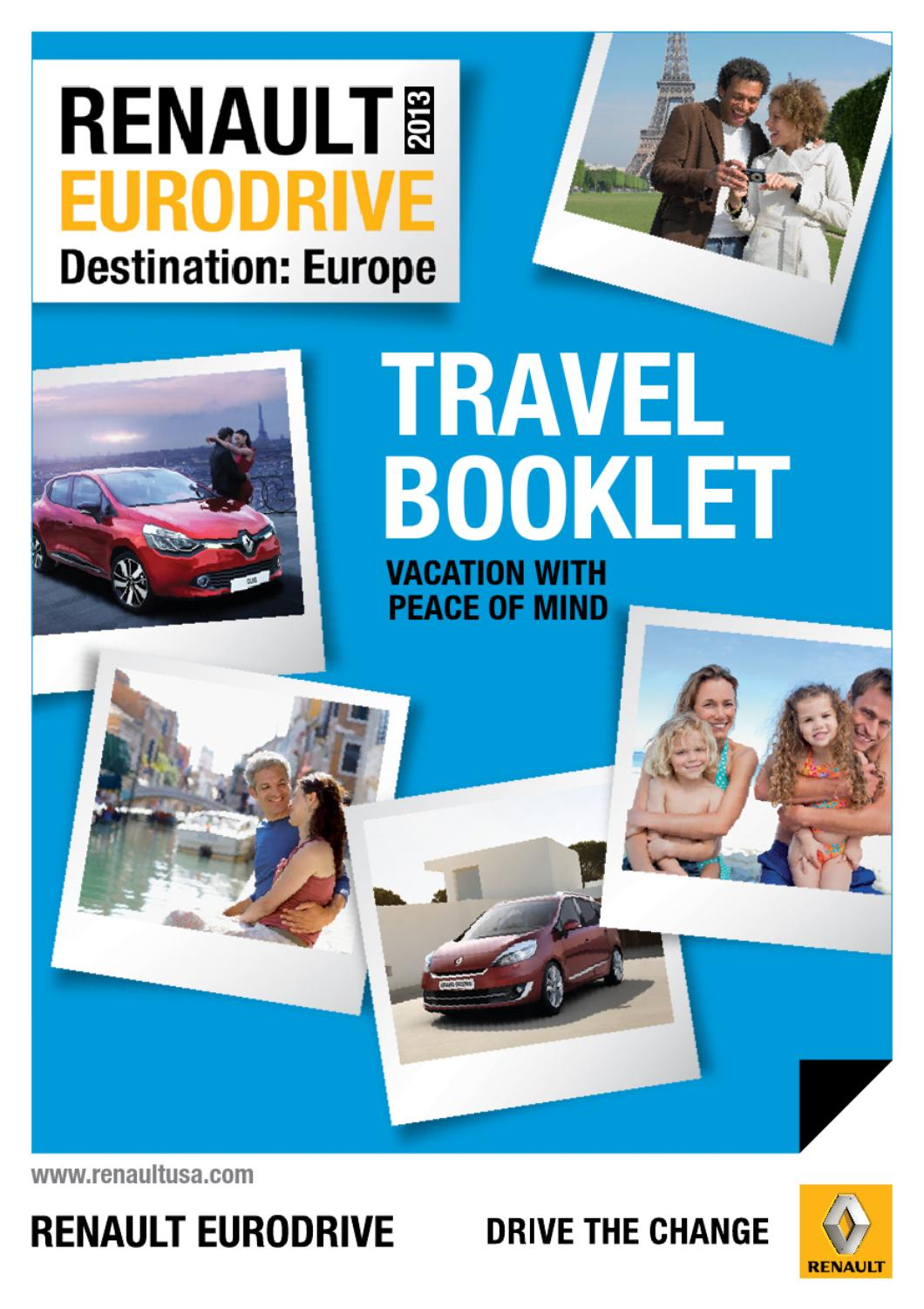 Short Term Car Lease >> Short Term Car Lease In Europe Travel Booklet 2013 By