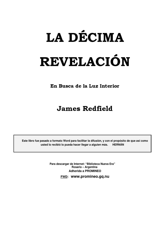 La Decima Revelacion by Master De Luz - issuu