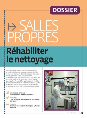 Dossier Salles Propres Industrie Pharma By Infopro Digital Issuu
