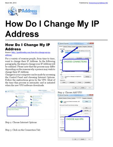 how to permanently change ip address