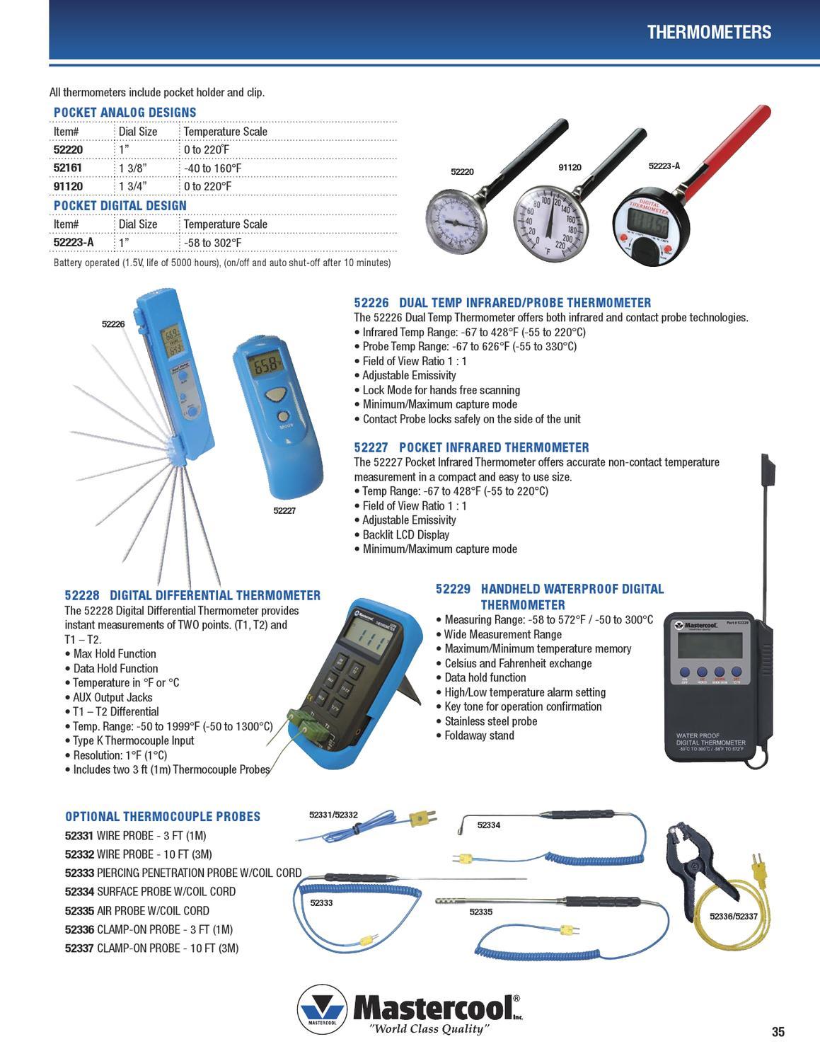 Mastercool 52220 Pocket Analog Thermometer
