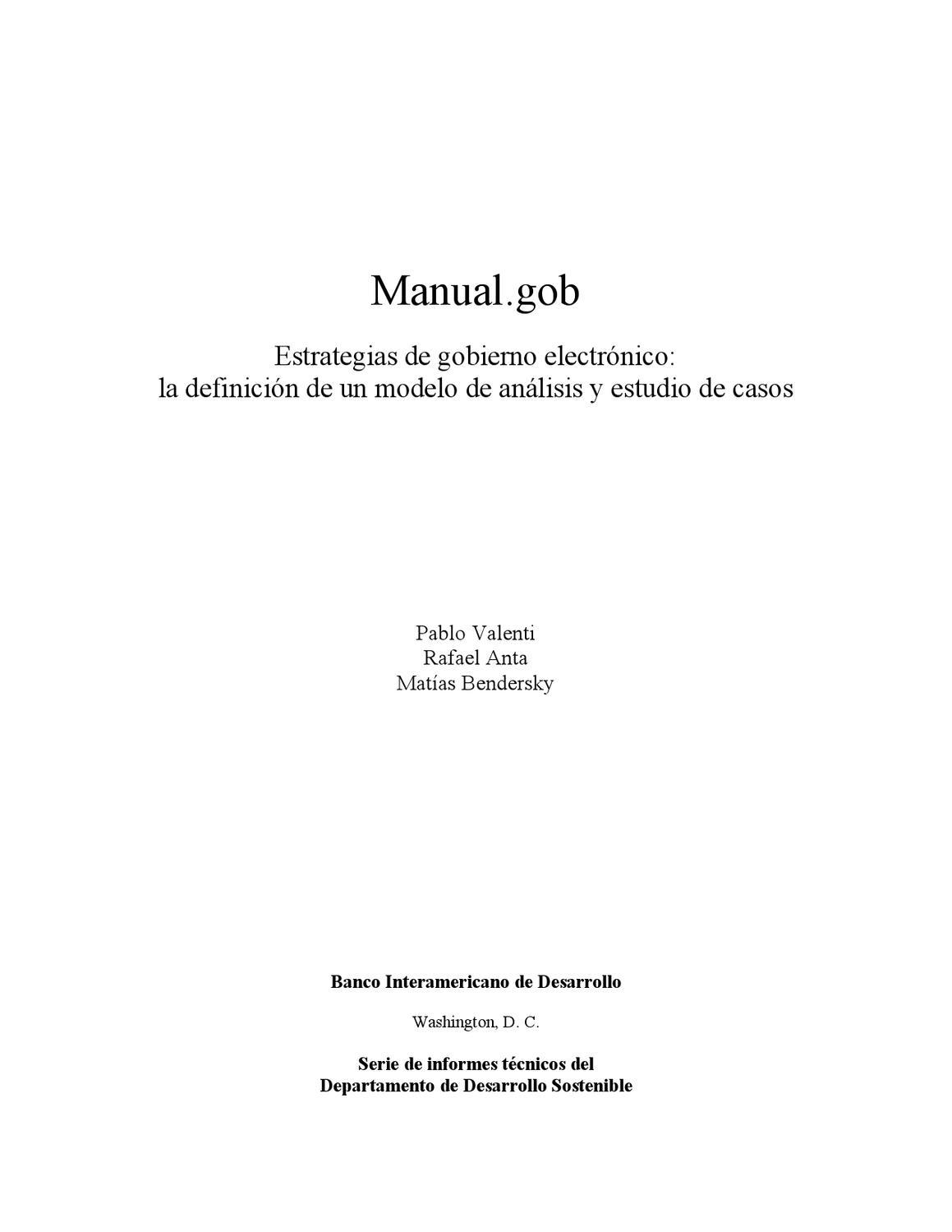 manual.gob: estrategias de gobierno electrónico: la definición de un ...