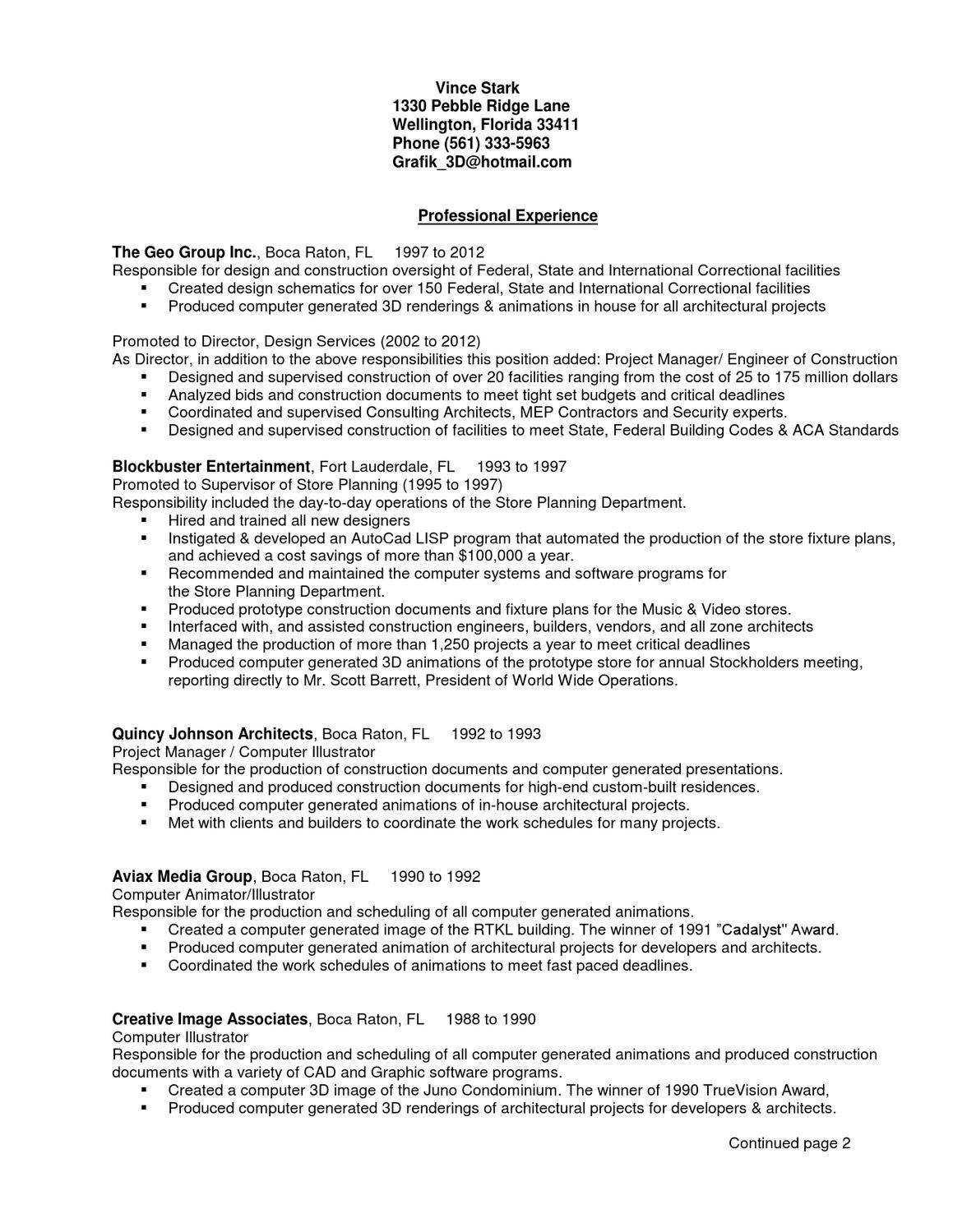 resume by Vince Stark - issuu