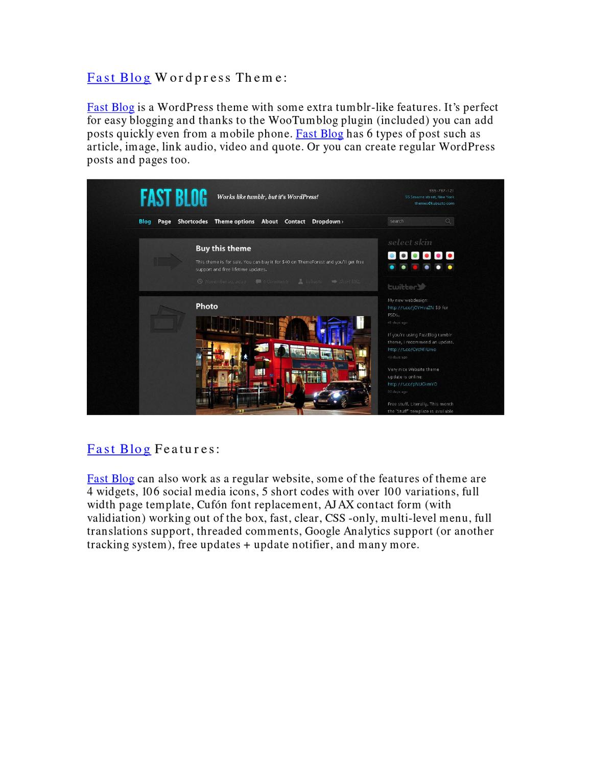 Fast Blog Wordpress Theme by Jose Roque - issuu