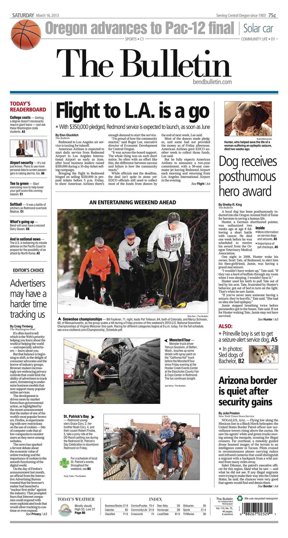 Bulletin Daily Paper 03 16 13 By Western Communications Inc Issuu Les Catino New York Brooklyn Satchel M Haze