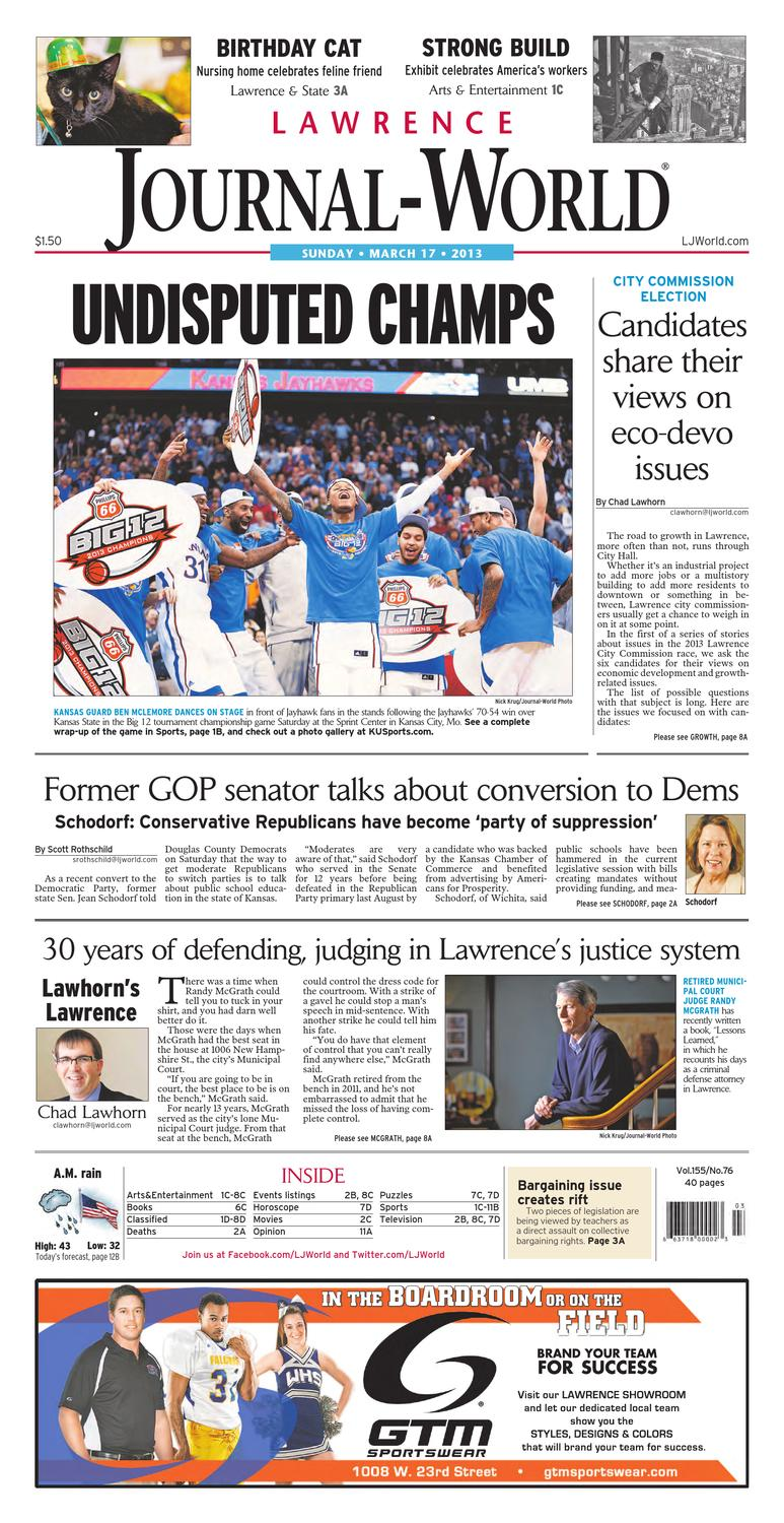 58f887900 Lawrence Journal-World 03-17-13 by Lawrence Journal-World - issuu