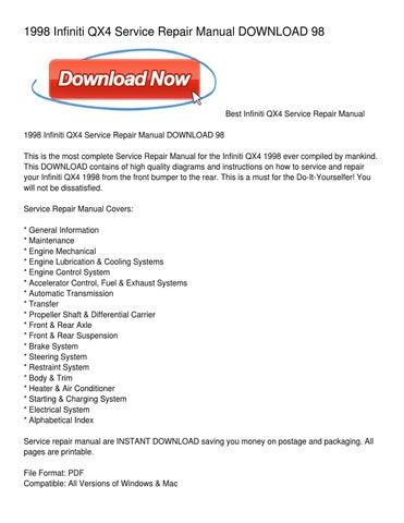 1998 infiniti qx4 service repair manual download 98 by albert rh issuu com 1998 Infiniti QX4 Transmission Solinoid 1998 Infiniti QX4 Problems