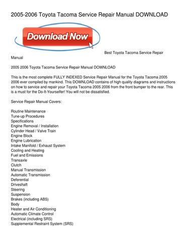 Toyota Tacoma Repair Diagrams - Wiring Diagrams List