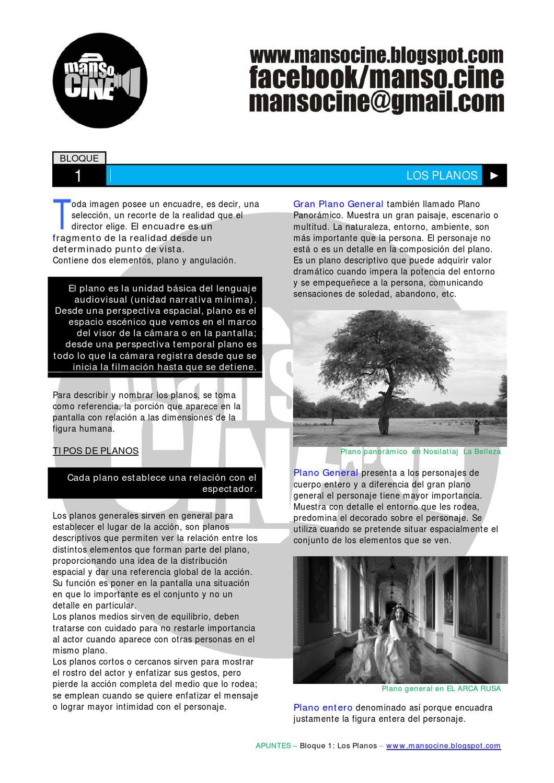 Bloque 1: Los planos by MANSO CINE - issuu