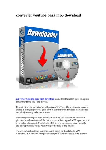 Page 1 Converter Youtube Para Mp3 Download