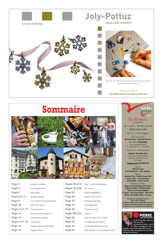 plus grand choix qualité incroyable plus récent LA TRIBUNE DE MEGEVE N°125 by La Tribune de Megève - issuu