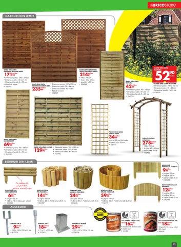 Panouri gard lemn bricostore
