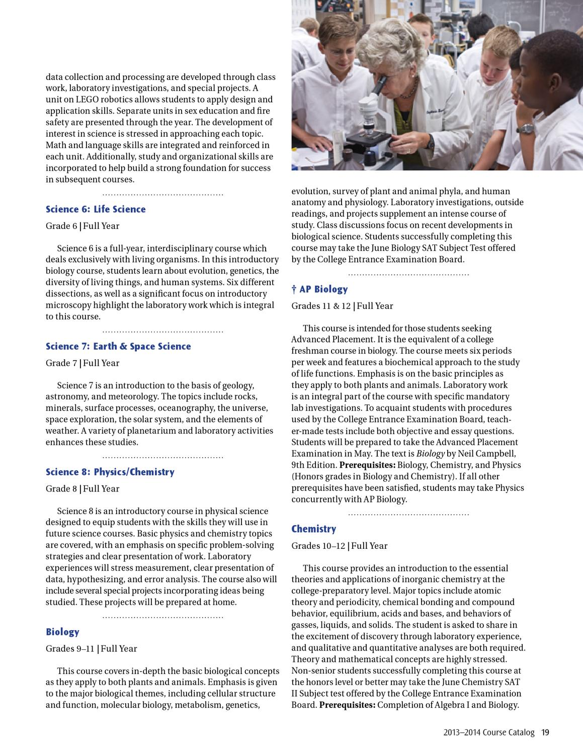 Course Catalog 2013-2014 by St  Mark's School of Texas - issuu