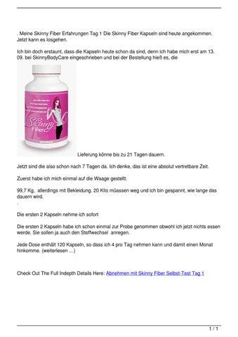 Abnehmen mit Skinny Fiber Selbst-Test Tag 1 by Michael Jaeckel - issuu