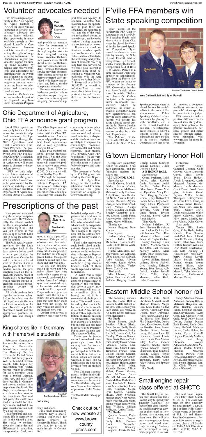 The Brown County Press March 17 2013 By Clermont Sun Publishing