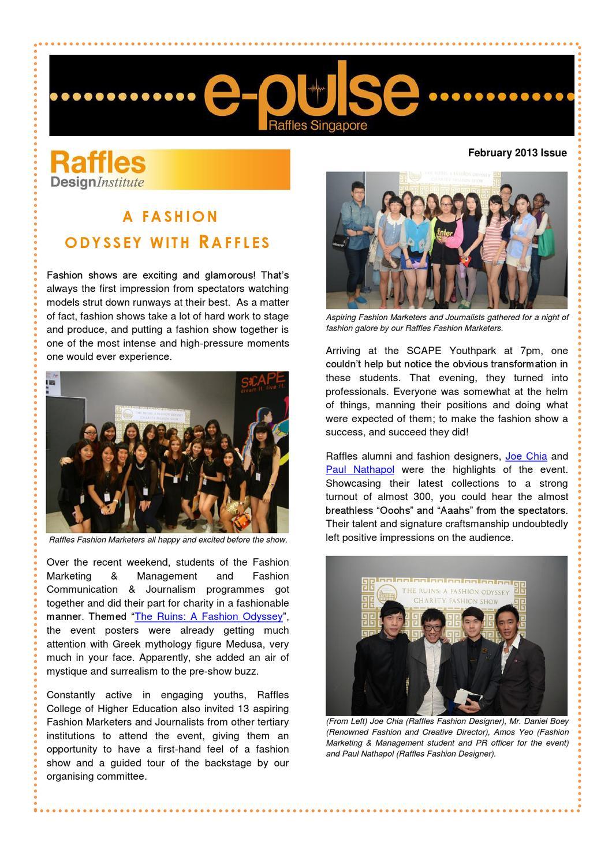 2013 02 Raffles Singapore E Pulse By Raffles Singapore Issuu