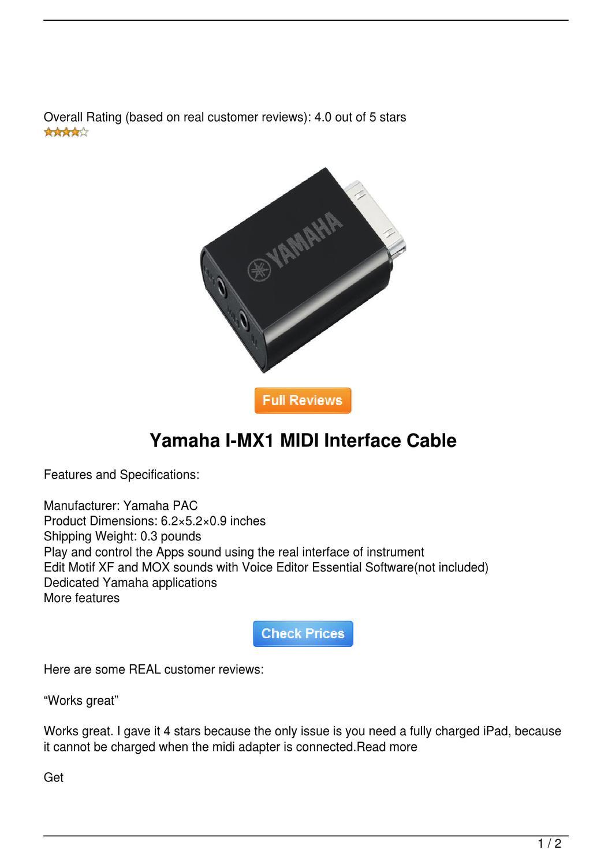 Yamaha Pac Adapter