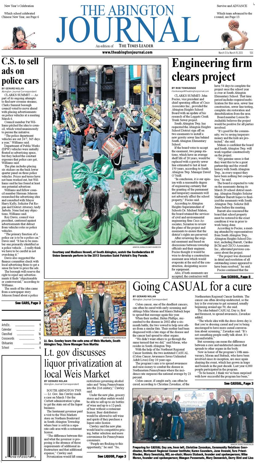 The Abington Journal 03 13 2013 By The Wilkes Barre Publishing