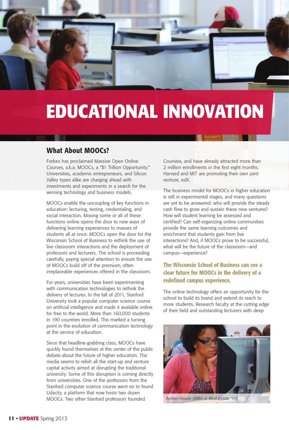 Wisconsin School of Business Update Magazine Spring 2013 by