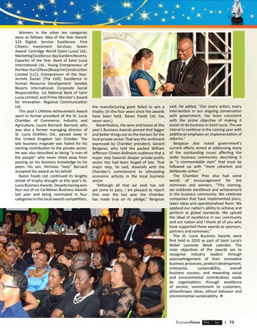 St lucia business focus 68 by ams st lucia issuu follows idea of the year award 123 digital service excellence first citizens investment services green award cartridge world saint lucia ltd malvernweather Gallery