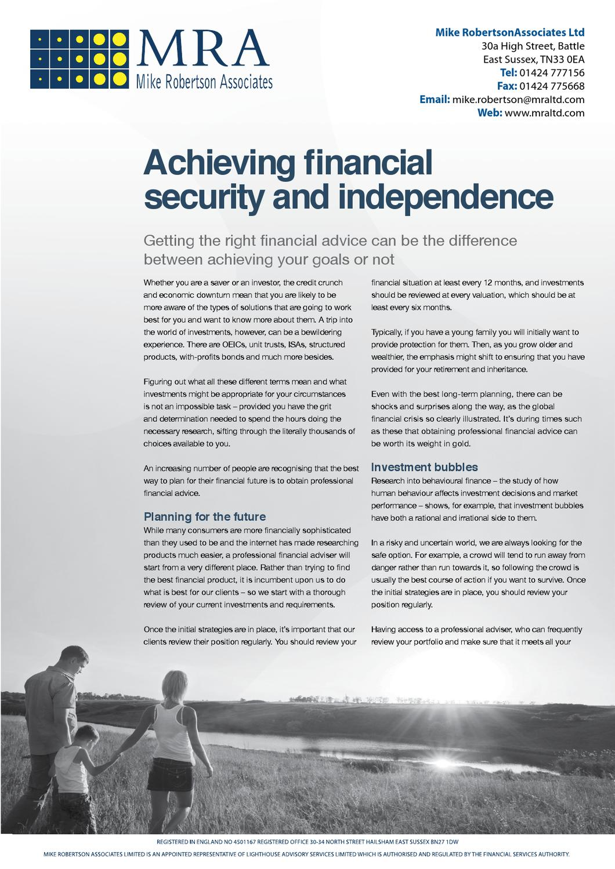 Financial Security Infosheet