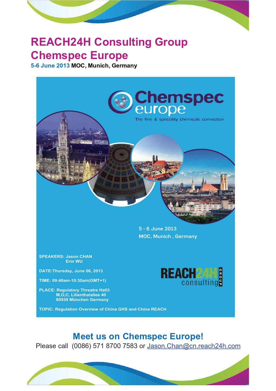 REACH24H-Chemspec Europe Munich Germany by Jason Chan - issuu