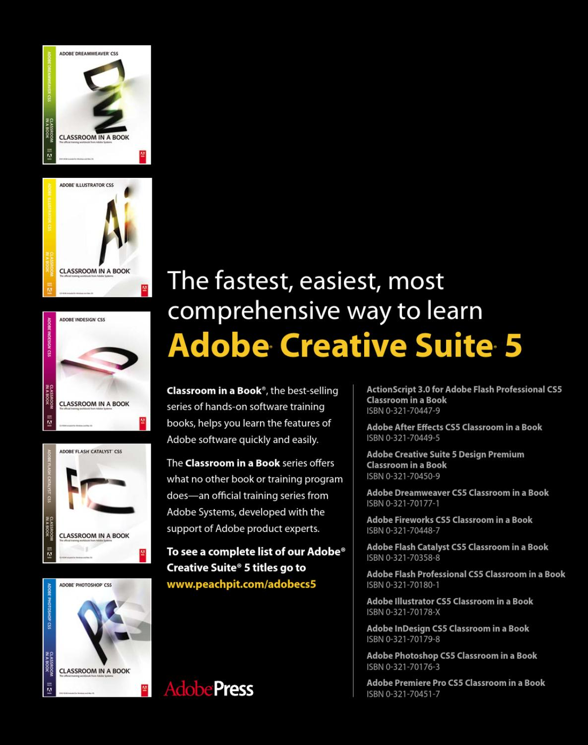 adobe indesign cs5 classroom in a book free download