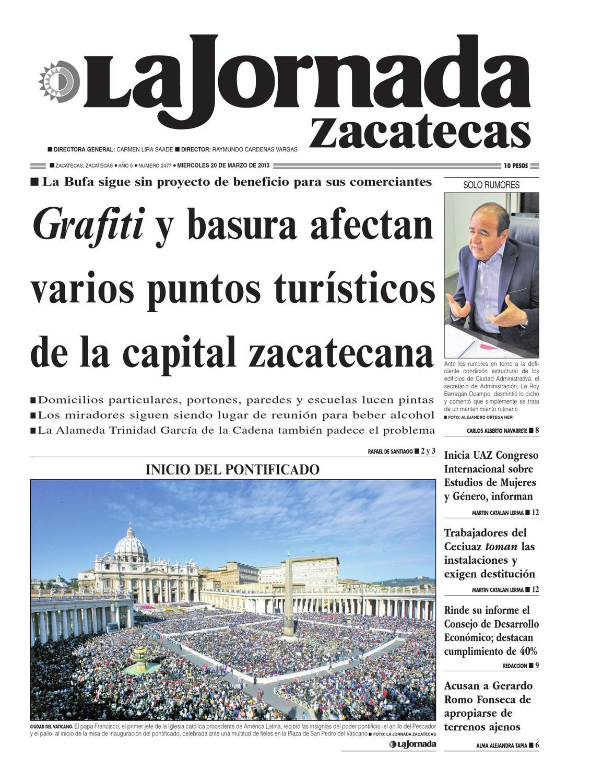 la jornada zacatecas, miércoles 20 de marzo del 2013 by La Jornada ...