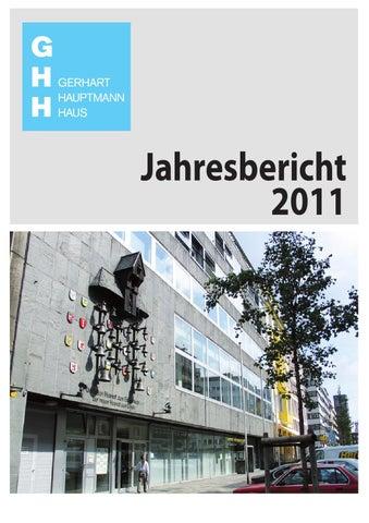 Jahresbericht 2011 By Stiftung Gerhart Hauptmann Haus Issuu
