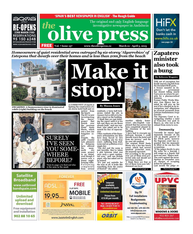 Olive Press Newspaper Issue 157 By Olive Press Newspaper Spain  # Muebles Javier Pinochet