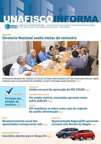 Informativo da UNAFISCO NACIONAL — Associação Nacional dos Auditores  Fiscais da Receita Federal do Brasil nº 52 - Março de 2013 ... ccdc00e6d7e71