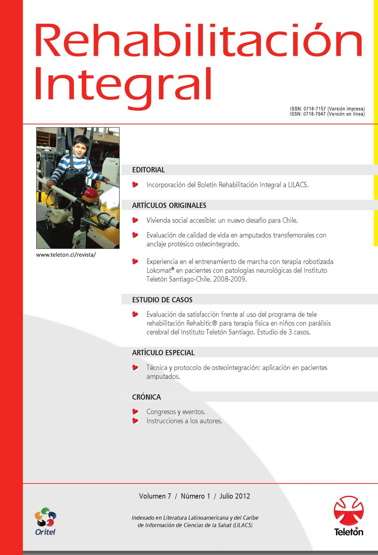 Revista de Rehabilitación Integral, julio 2012 by Fundación Teletón ...