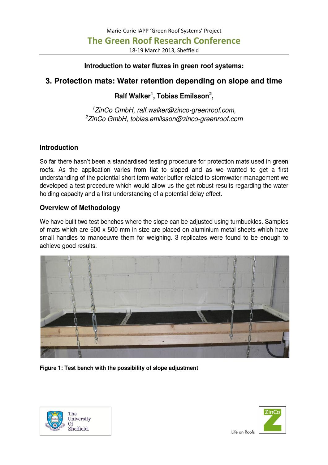 Introduction To Water Gardening: Introduction To Water Fluxes In Green Roof Systems 3