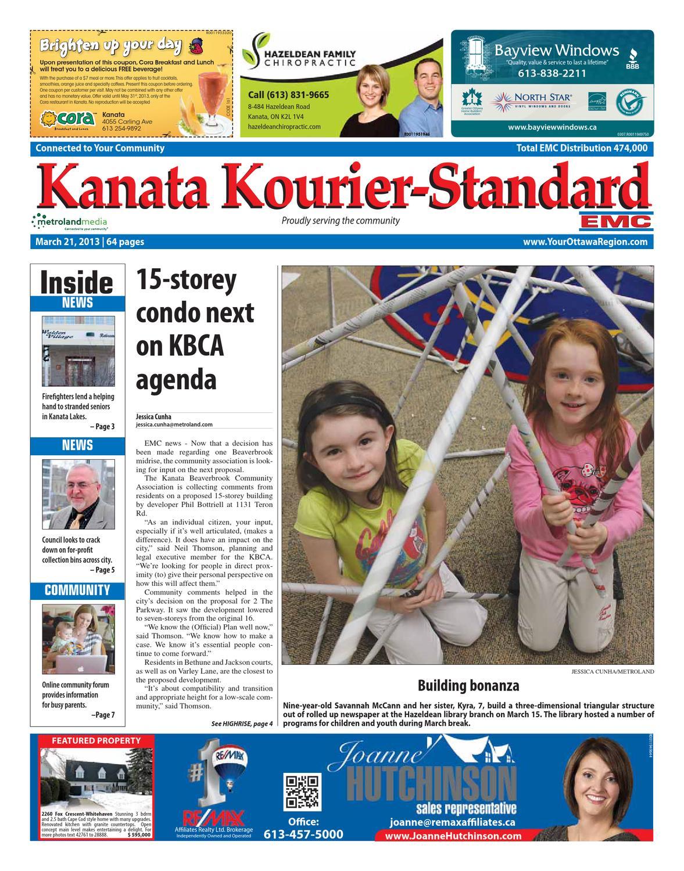 Kanata Kourier Standard By Metroland East Kanata Kourier