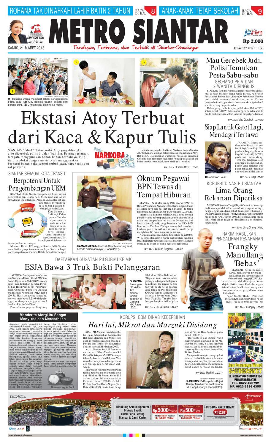 Epaper Metro Siantar Online By Issuu Produk Ukm Bumn Jamu Instan Abah Aromahtrenggalek