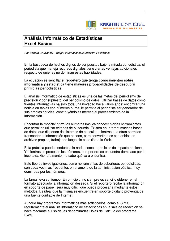 Análisis de Variables usando Excel Básico by Sandra Crucianelli - issuu