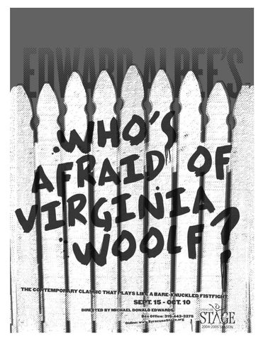 Whos Afraid Of The Virginia Woolf Study Guide By Syracuse Stage