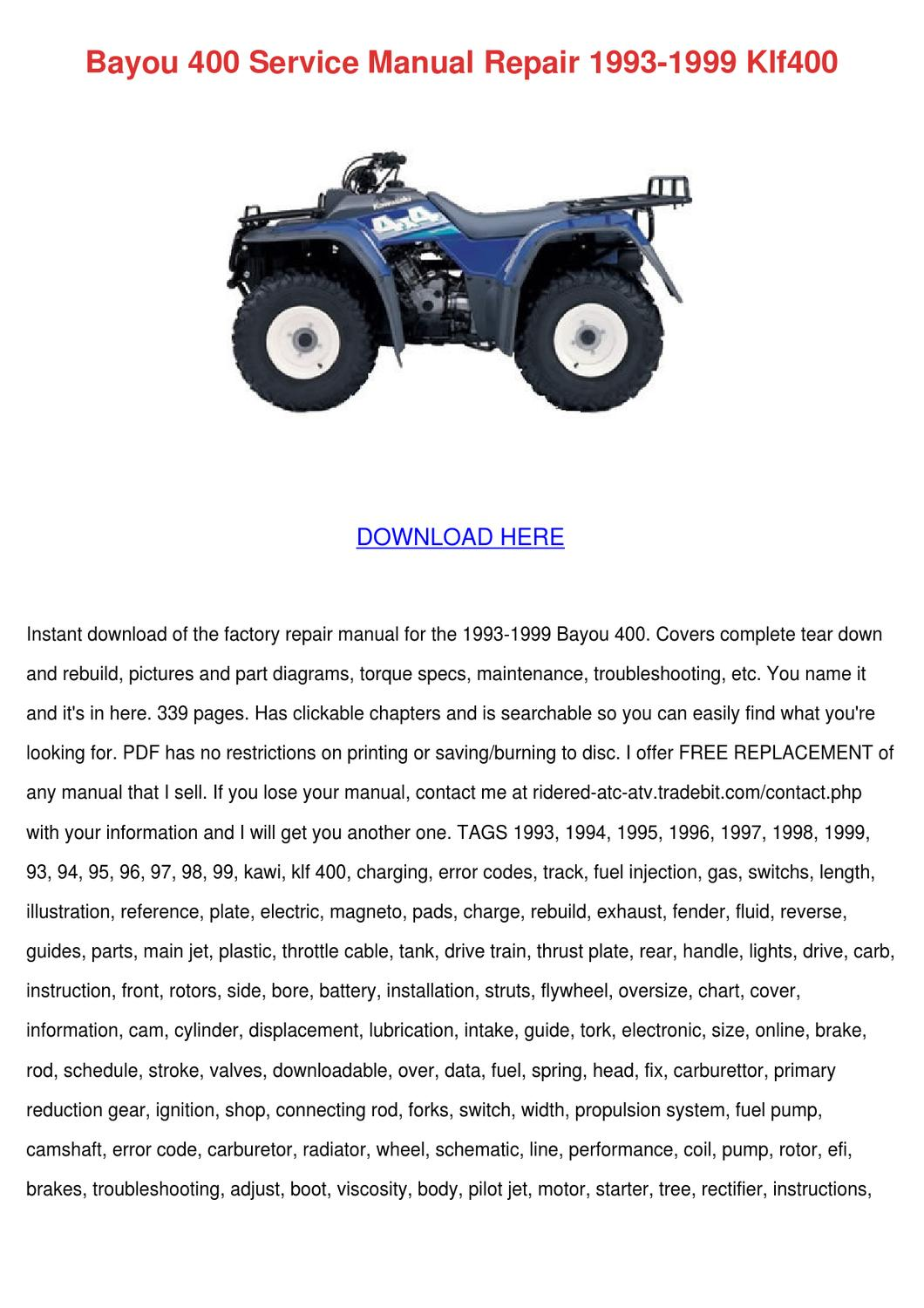 Bayou 400 Service Manual Repair 1993 1999 Klf By Enda Dito Issuu Jetenginediagram Image Jet Engine Diagram Download
