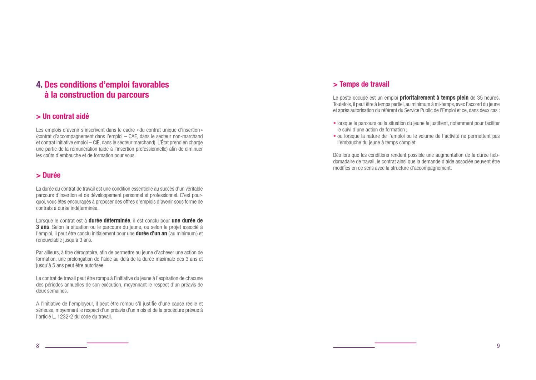 Emplois D Avenir Guide De Employeur By Ministere Chargee