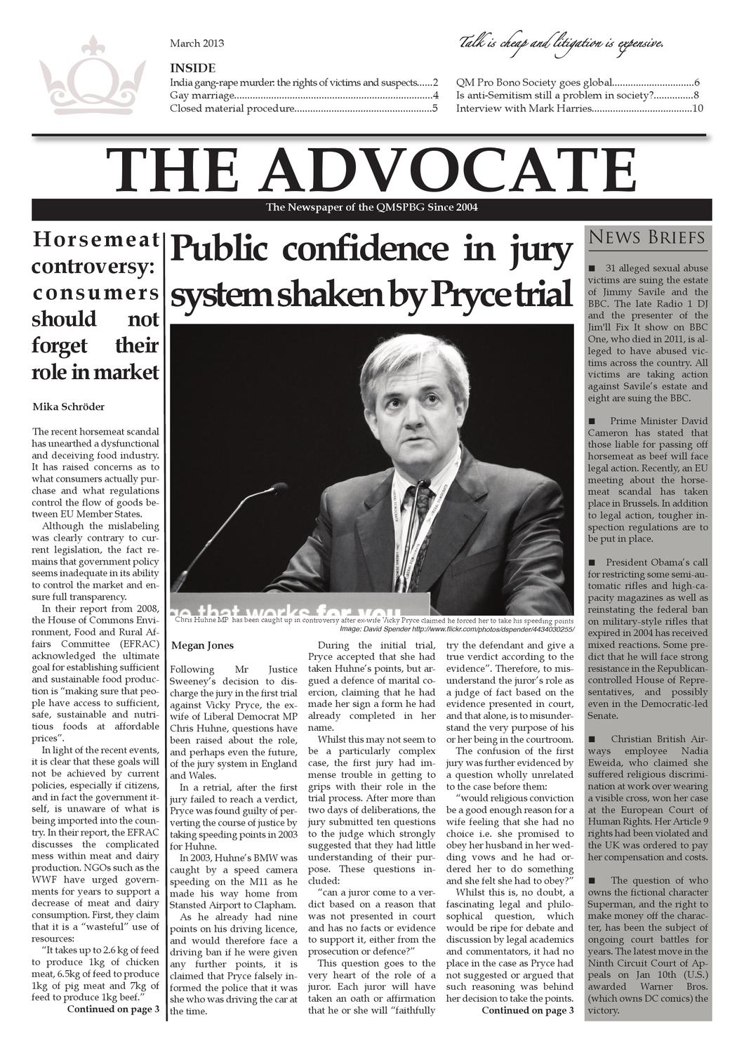 The Advocate Issuu VII by The Advocate Legal News - issuu