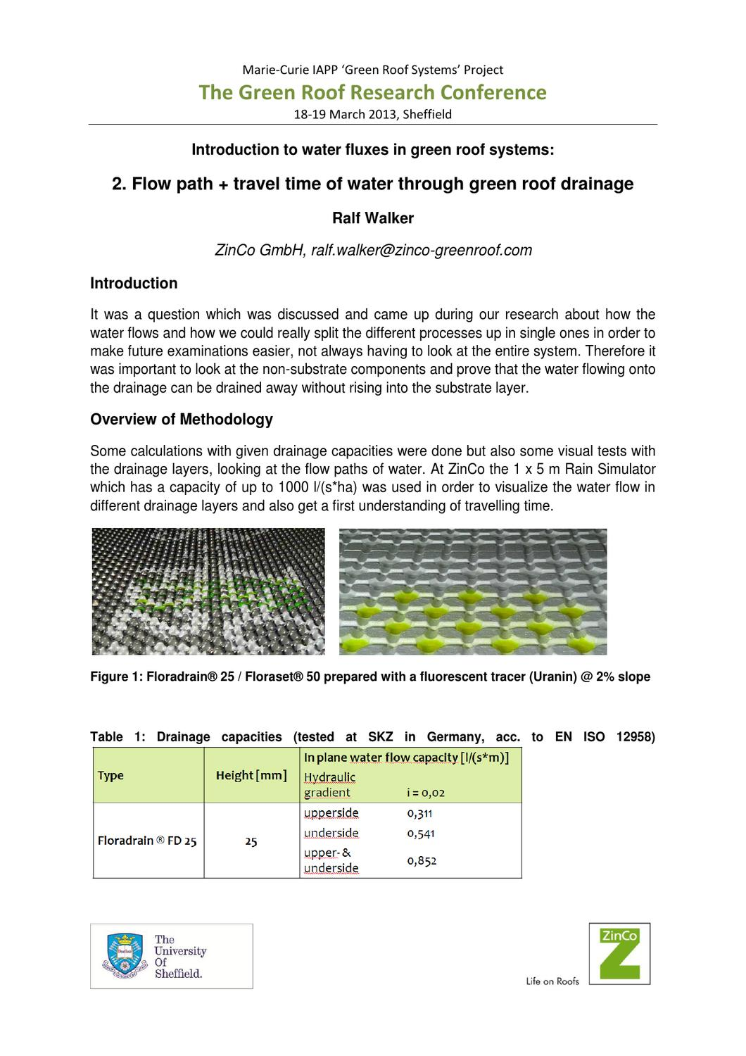 Introduction To Water Gardening: Introduction To Water Fluxes In Green Roof Systems 2