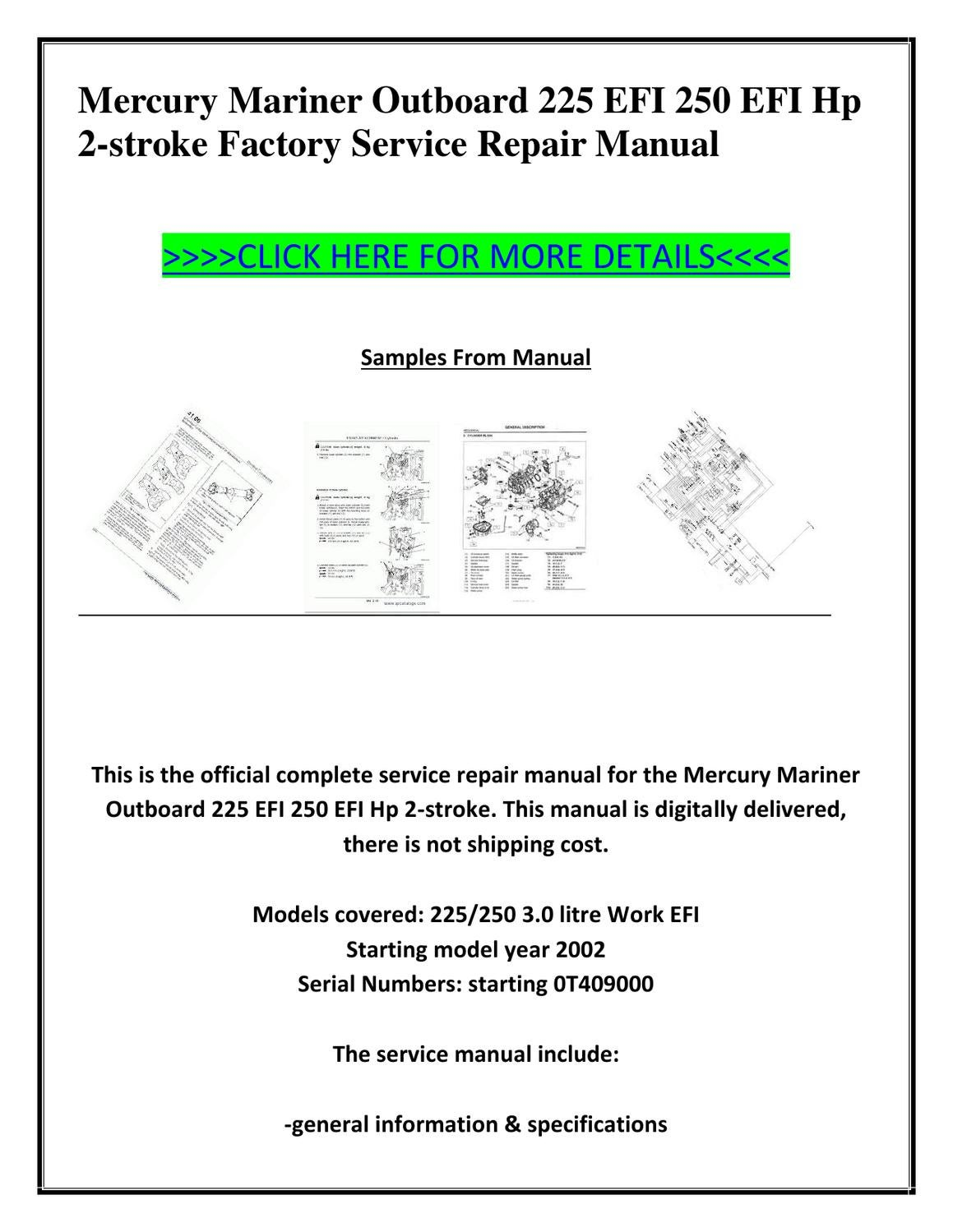 mercury marine outboard repair manual