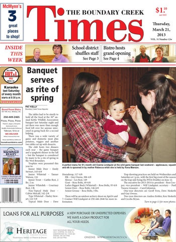 Boundary Creek Times, March 21, 2013