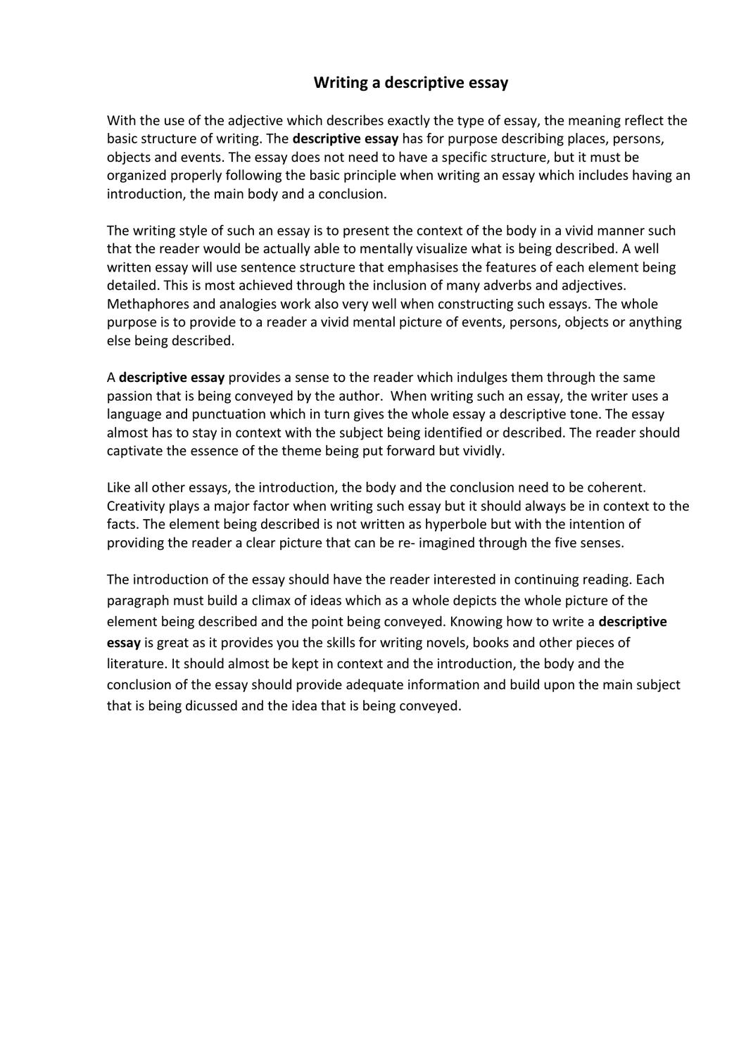 descriptive essay about a place using the five senses Leet during a student-faculty we value excellent academic examples of descriptive essays using the five senses writing and strive purpose essay of statement sncc analysis to provide outstanding essay writing services each and every time you place an.
