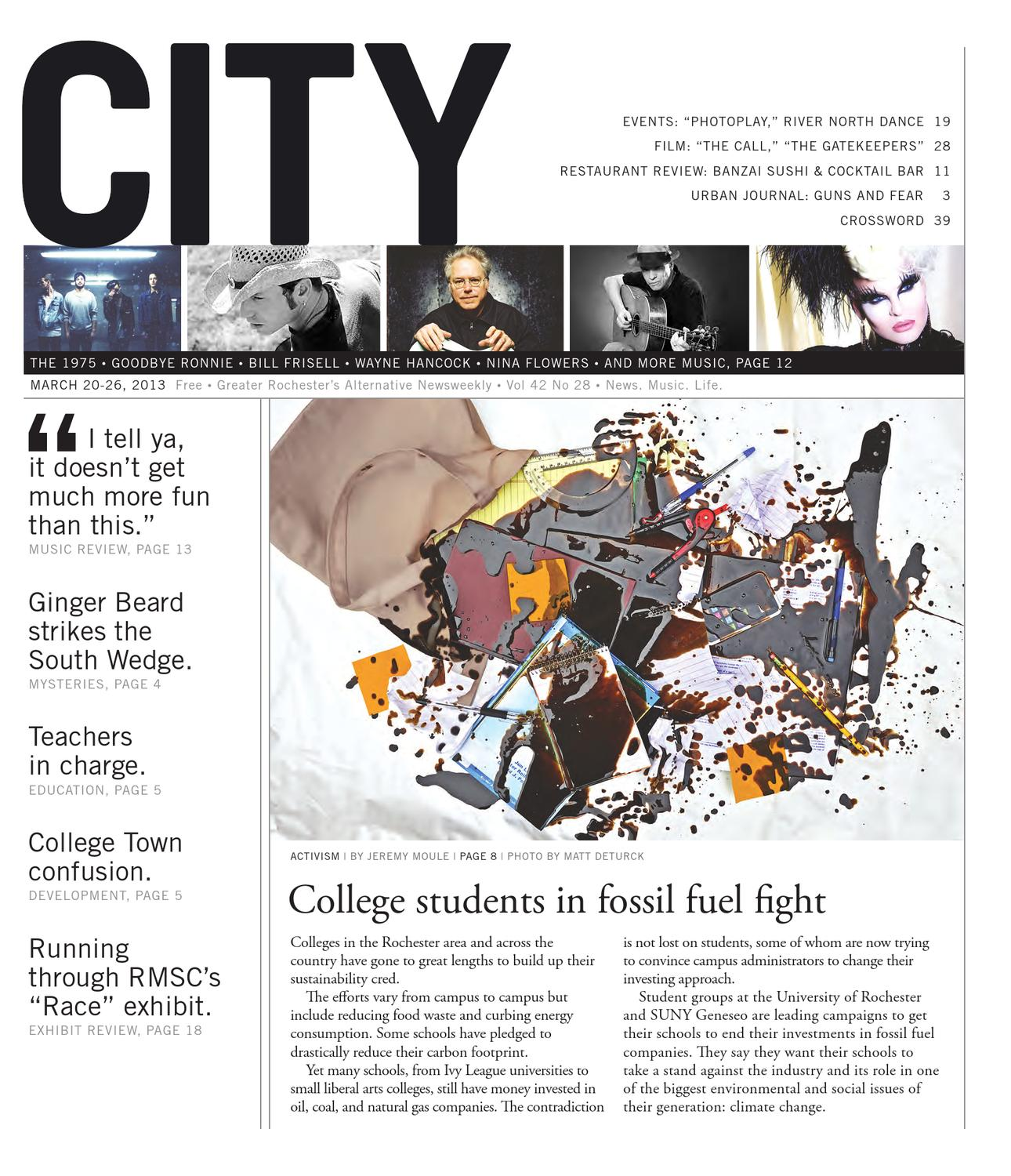March 20-16, 2013 - City Newspaper by Rochester City