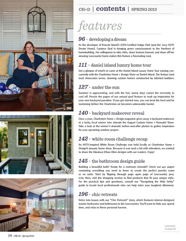 Charleston Home + Design Magazine - Spring 2013 by Charleston Home + ...