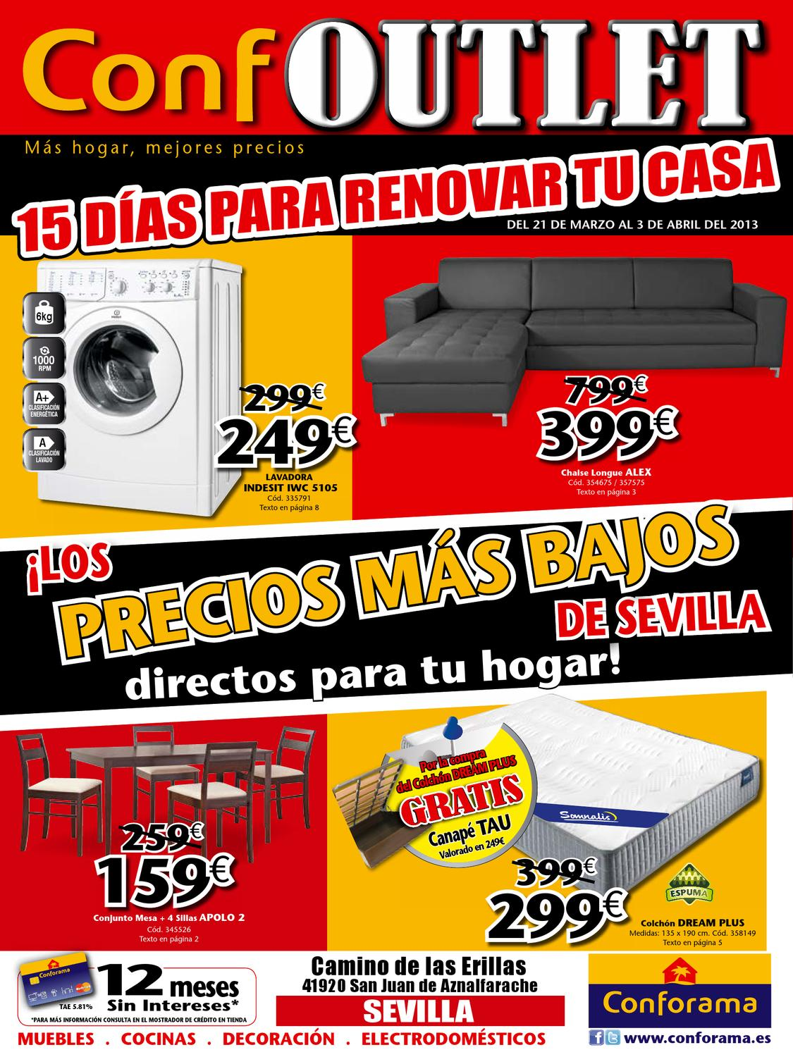 Conforama catalogo promociones sevilla outlet 3 2013 by - Conforama sevilla catalogo ...