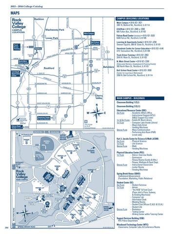 Rvc Campus Map.Rvc College Catalog 2013 2014 By Rock Valley College Issuu