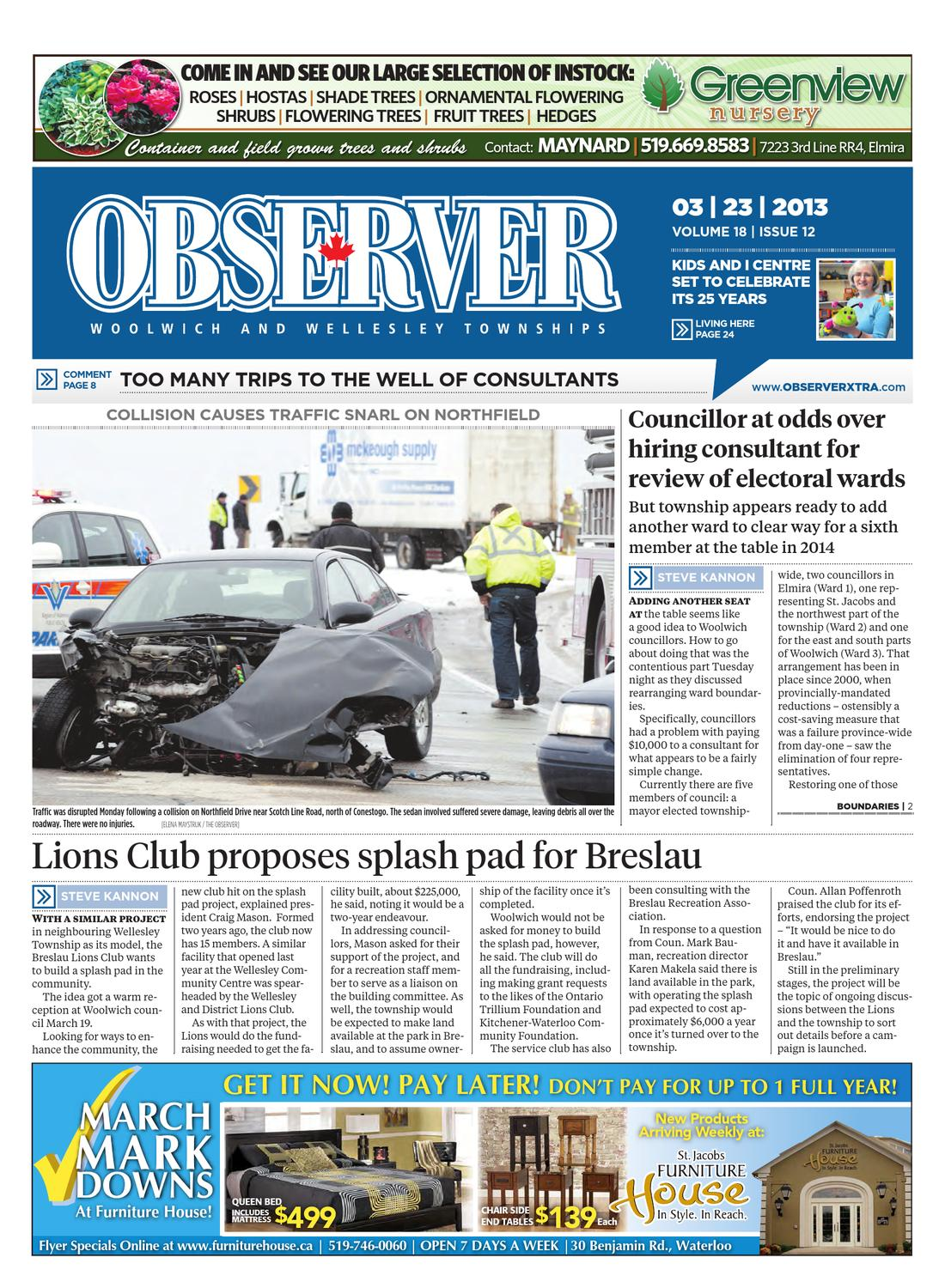 March 23, 2013 by Woolwich Observer - issuu